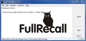 Enlarge FullRecall Screenshot