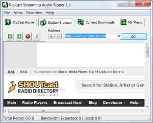 Enlarge RipCast Streaming Audio Ripper Screenshot