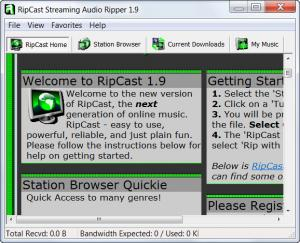 Enlarge RipCast Streaming Audio Ripper Screenshot