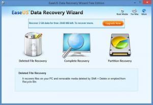 Enlarge EaseUS Data Recovery Wizard Screenshot