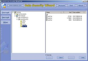 Enlarge EASEUS Data Security Wizard Screenshot
