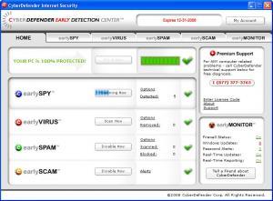 Enlarge CyberDefender AntiSpyware Screenshot