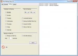 Enlarge Backup Easy Screenshot