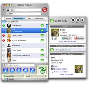 Enlarge Gizmo Project Screenshot