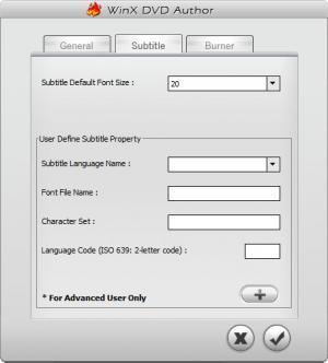 Enlarge WinX DVD Author Screenshot