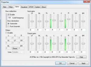 Enlarge AC3Filter Screenshot