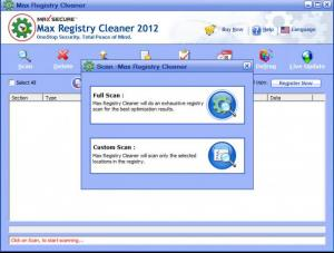 Enlarge Max Registry Cleaner Screenshot