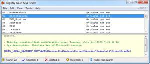 Enlarge Registry Trash Keys Finder Screenshot