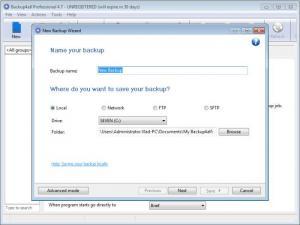 Enlarge Backup4all Professional Screenshot