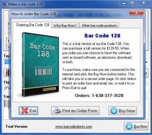 Enlarge Bar Code 128 Screenshot