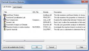 Enlarge ChemLab Screenshot