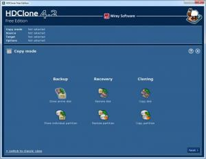 Enlarge HDClone Free Edition Screenshot