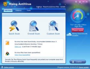 Enlarge Rising Antivirus Screenshot