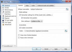 Enlarge Reganam 3GP Player Screenshot