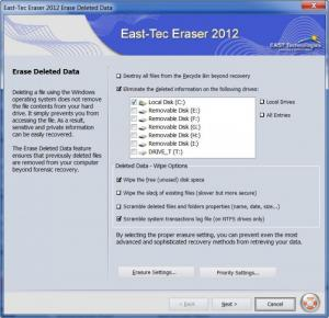 Enlarge East-Tec Eraser Screenshot