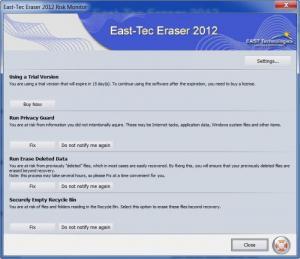 Enlarge East-Tec Eraser Screenshot