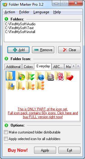 Enlarge Folder Marker Screenshot