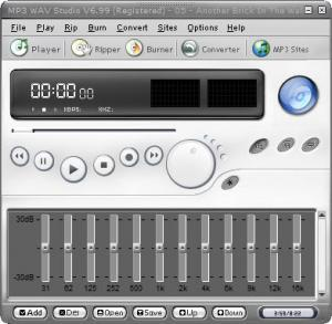 Enlarge MP3 WAV Studio Screenshot