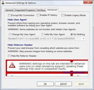Enlarge Hide My IP Screenshot