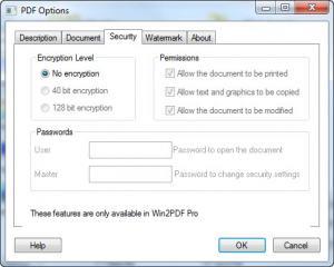 Enlarge Win2PDF Screenshot