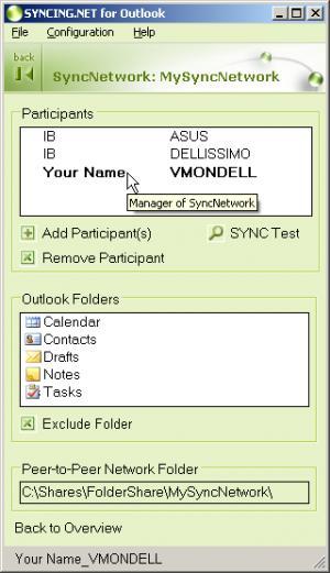 Enlarge SYNCING.NET Screenshot