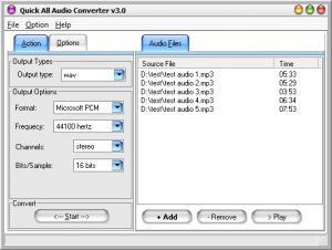 Enlarge Quick All Audio Converter Screenshot