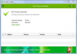 Enlarge Dr.Web CureIt! Screenshot
