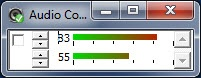 Enlarge Audio Control Screenshot