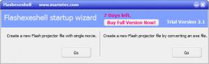 Enlarge Flash EXE Shell Screenshot