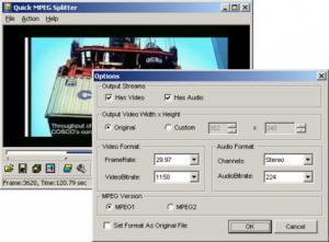 Enlarge Quick MPEG Splitter Screenshot