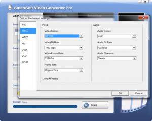 Enlarge SmartSoft Video Converter Screenshot