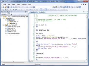 Enlarge Universal SQL Editor Screenshot