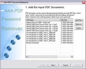 Enlarge 3A PDF Password Remove Screenshot