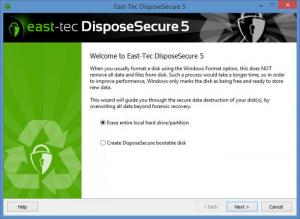 Enlarge East-Tec DisposeSecure Screenshot