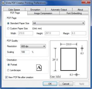 Enlarge Vista PDF Creator Screenshot
