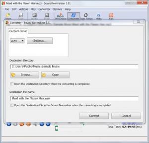 Enlarge Sound Normalizer Screenshot