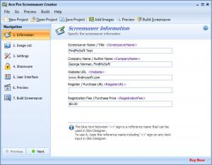 Enlarge Ace Pro Screensaver Creator Screenshot