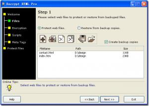 Enlarge Encrypt HTML Pro Screenshot