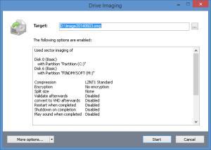 Enlarge O&O DiskImage Screenshot