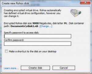 Enlarge Rohos Disk Encryption Screenshot