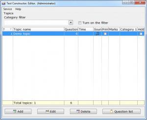 Enlarge Test Constructor Screenshot