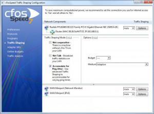 Enlarge cFosSpeed Screenshot