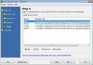 Enlarge HTML Password Lock Screenshot
