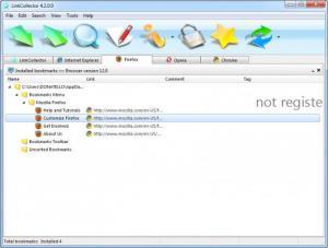 Enlarge LinkCollector Screenshot