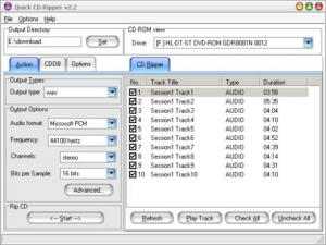 Enlarge Quick CD Ripper Screenshot