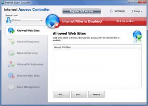 Enlarge Internet Access Controller Screenshot