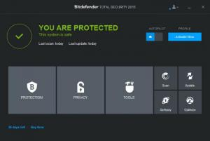 Enlarge Bitdefender Total Security Screenshot