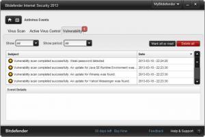 Enlarge Bitdefender Internet Security Screenshot