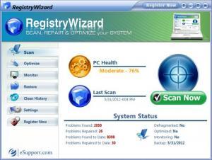 Enlarge RegistryWizard Screenshot