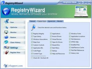 Enlarge RegistryWizard Screenshot